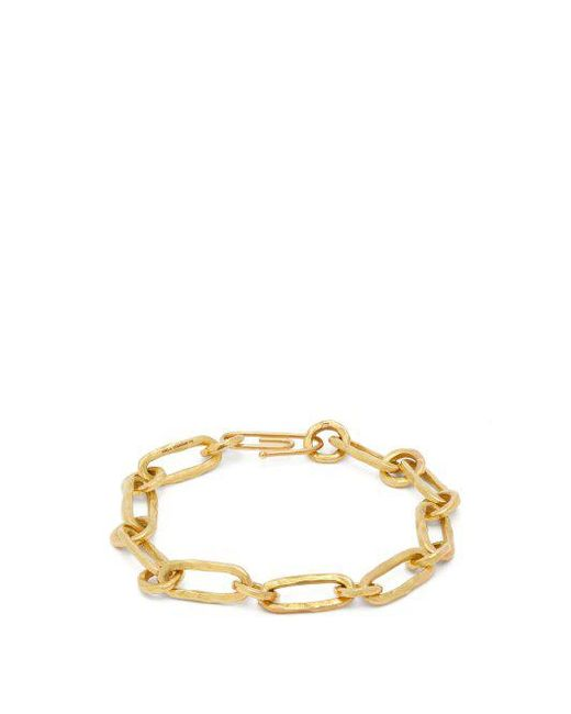Aurélie Bidermann Hammered Chain 18kt gold bracelet OvXoY