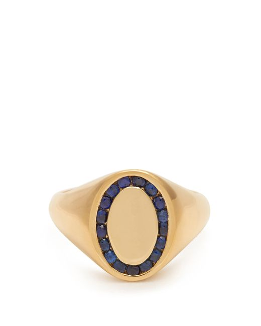 Jessica Biales - Blue Sapphire & Yellow Gold Ring - Lyst