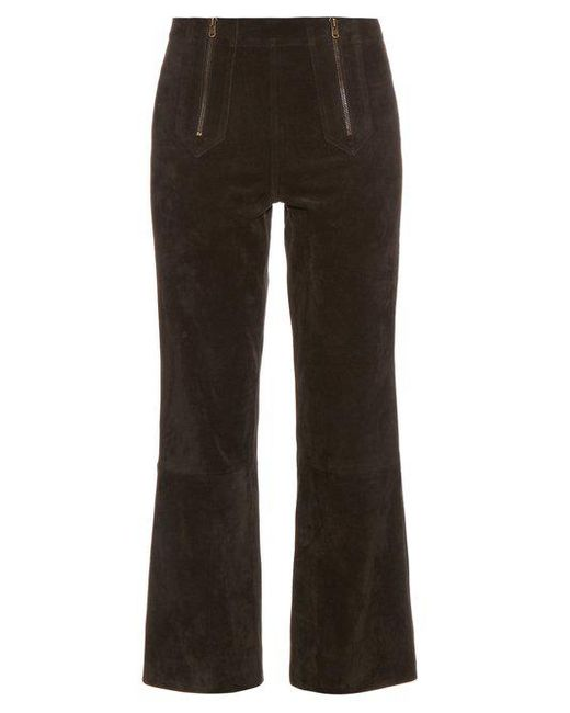 MiH Jeans - Black Arrow Suede Cropped Trousers - Lyst