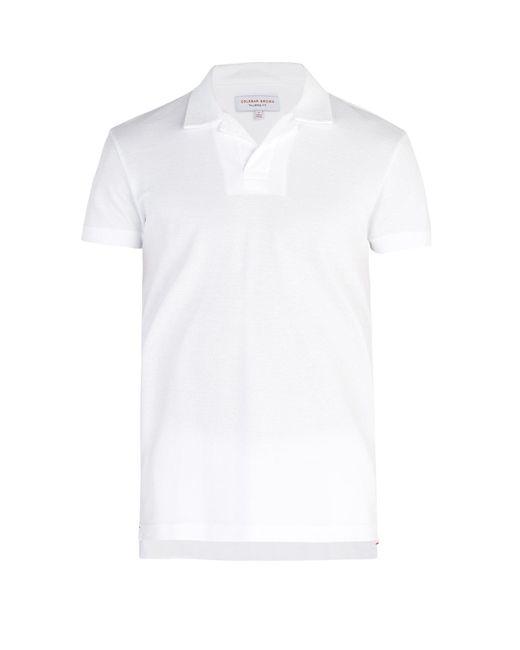 Orlebar Brown - White Felix Waffle Knit Cotton Polo Shirt for Men - Lyst