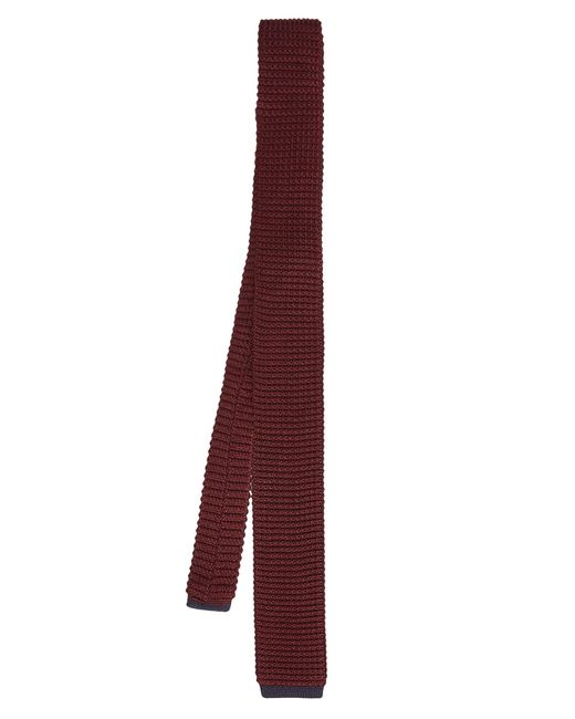 Dunhill | Purple Contrast-trim Silk-knit Tie for Men | Lyst