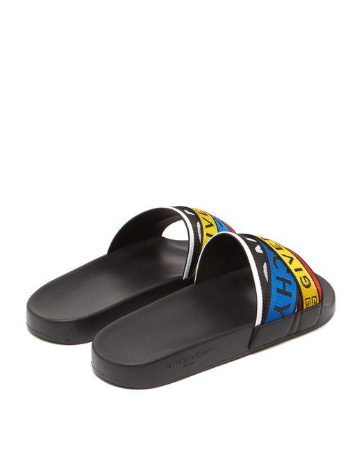 55cc7f17109e ... Givenchy - Multicolor Logo Strap Rubber Slides for Men - Lyst ...