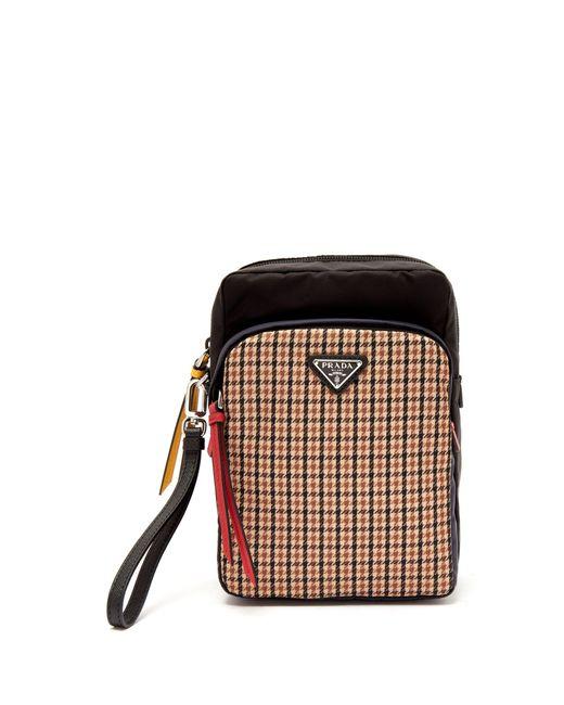 Prada - Brown Tweed-detailed Nylon Camera Bag for Men - Lyst