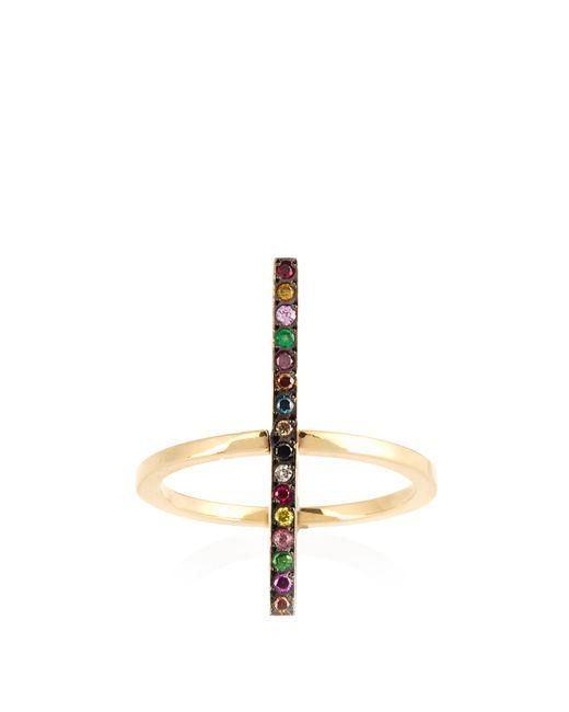 Ileana Makri - Metallic Rainbow Stones & Yellow Gold Ring - Lyst