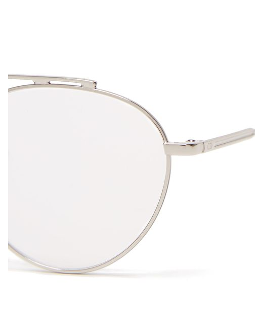 544a849c95 ... Dior Homme - Metallic Round Metal Glasses for Men - Lyst