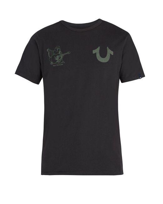 True Religion - Black Buddha-print Cotton-jersey T-shirt for Men - Lyst