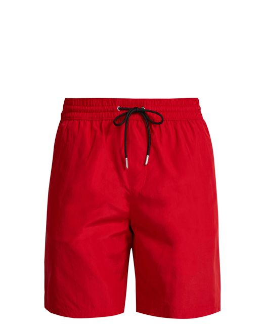 Burberry - Red Short de bain à bandes latérales et logo for Men - Lyst