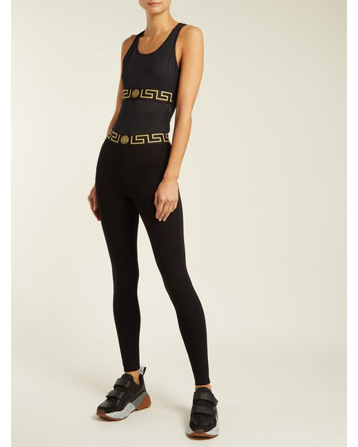 a048bc752ab5f Versace Medusa Sports Top in Black - Save 58% - Lyst