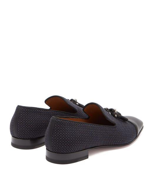 24e5351ee32 ... Christian Louboutin - Black Dandelion Tassel Embellished Leather Loafers  for Men - Lyst ...