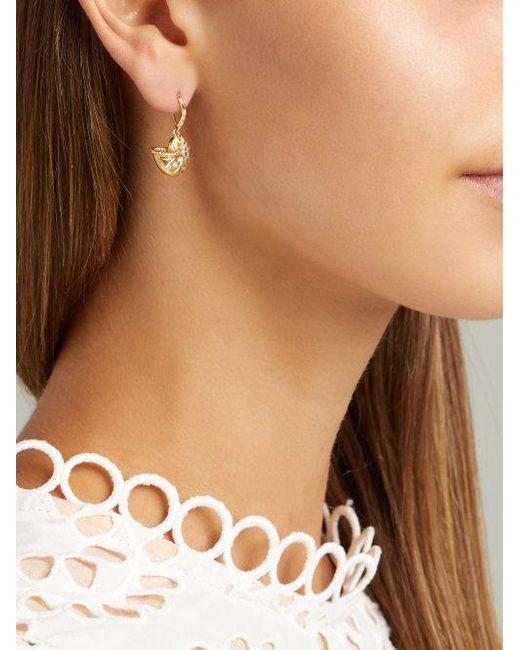 Diamond, multi-stone & 18kt gold single earring Aur