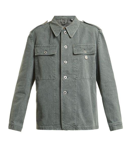 MYAR - Multicolor Oversized Denim Army Jacket - Lyst