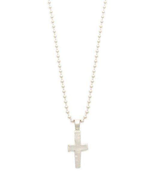 Aris Schwabe - Metallic Cross-pendant Sterling-silver Necklace for Men - Lyst