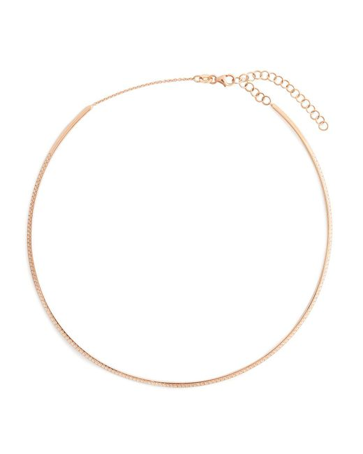 Diane Kordas - Metallic Diamond & Rose-gold Bar Choker - Lyst