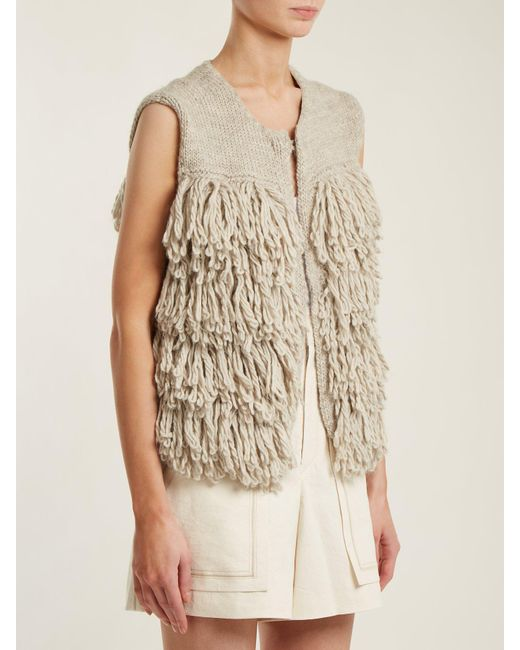 Lyst Mih Jeans Woodstock Loop Stitch Knit Gilet In Gray