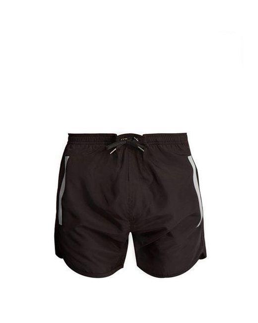 Neil Barrett - Black Tape-print Swim Shorts for Men - Lyst