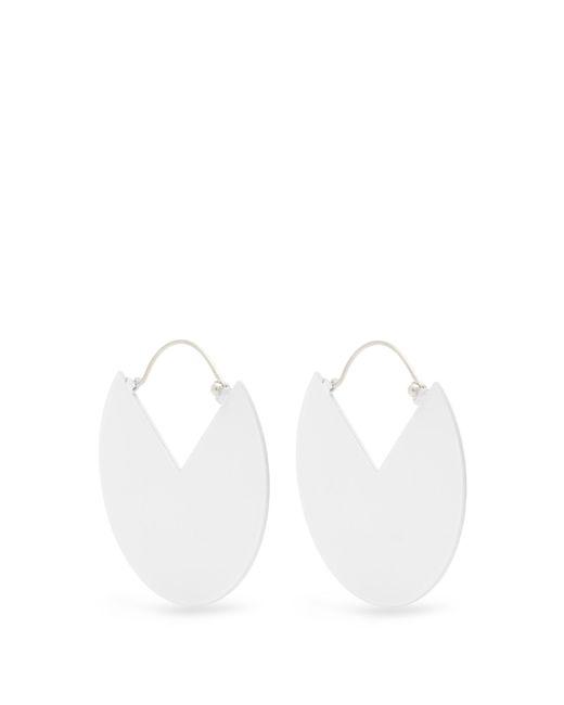 Isabel Marant   White Circle Earrings   Lyst