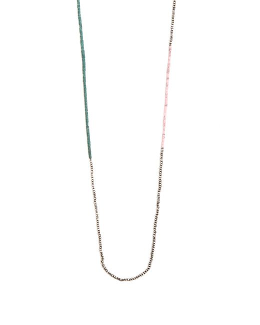 M. Cohen   Metallic Bead-embellished Silver Necklace for Men   Lyst