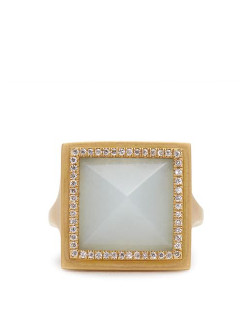 Monique Péan | Gray Diamond, Jade & Yellow-gold Ring | Lyst