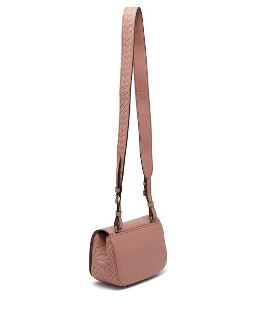 2fe3987611e2 ... Bottega Veneta - Pink Bv Luna Leather Cross Body Bag - Lyst ...
