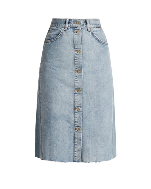 MiH Jeans - Blue Park A-line Denim Skirt - Lyst