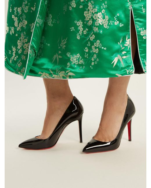 christian louboutin pigalle 100mm black patent