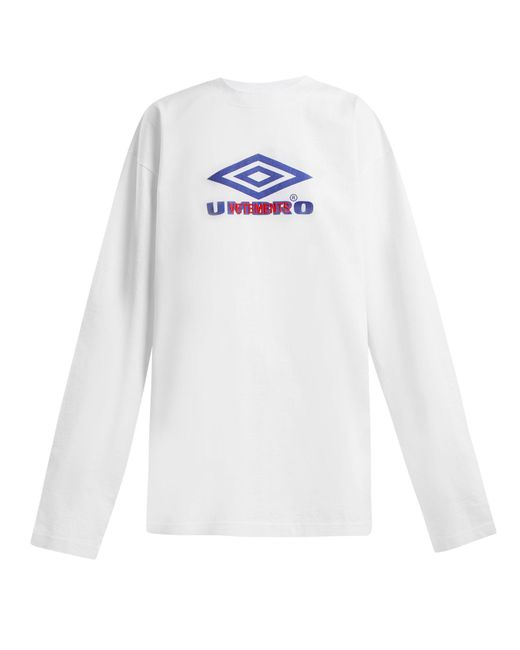 Vetements - White X Umbro Long-sleeved Cotton T-shirt - Lyst