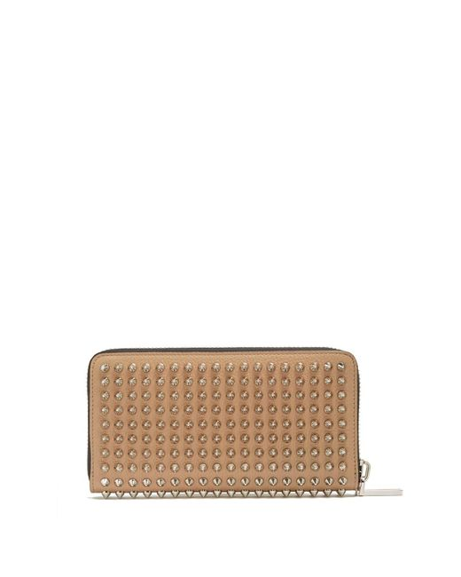 Christian Louboutin - Multicolor Panettone Spike Embellished Leather Wallet for Men - Lyst