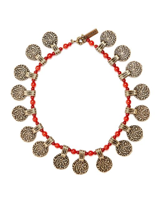 Etro | Multicolor Engraved-pendant Beaded Necklace | Lyst