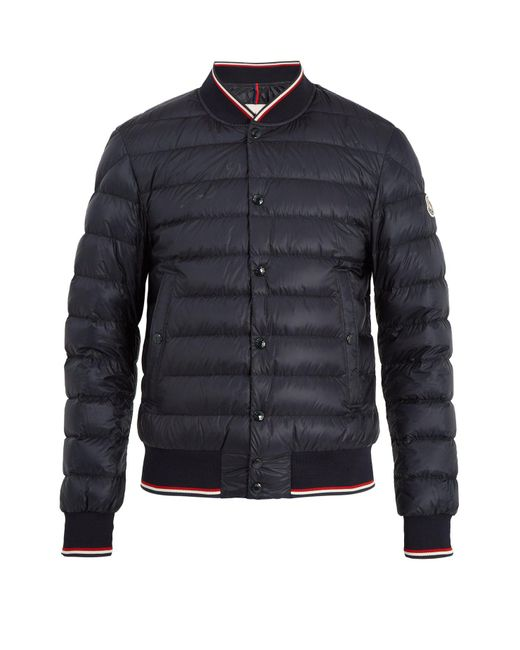 Moncler - Blue Aubry Quilted Down Bomber Jacket for Men - Lyst