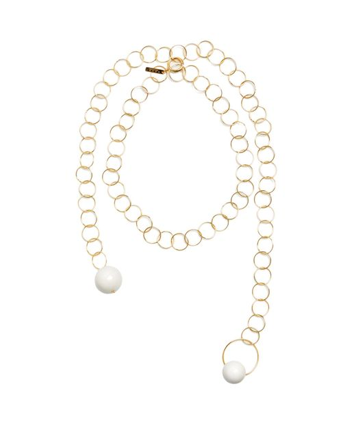 Marni | White Sphere-embellished Chain Necklace | Lyst