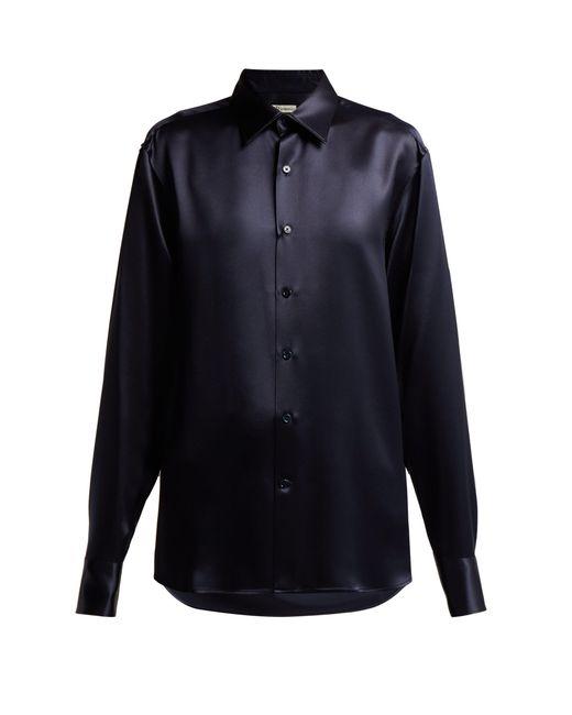 CONNOLLY - Blue Silk-satin Shirt - Lyst