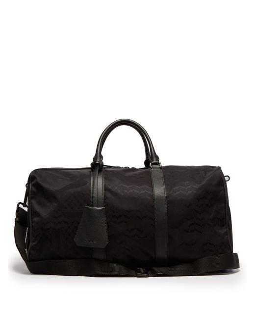Neil Barrett - Black Camouflage Leather Trimmed Nylon Holdall for Men - Lyst