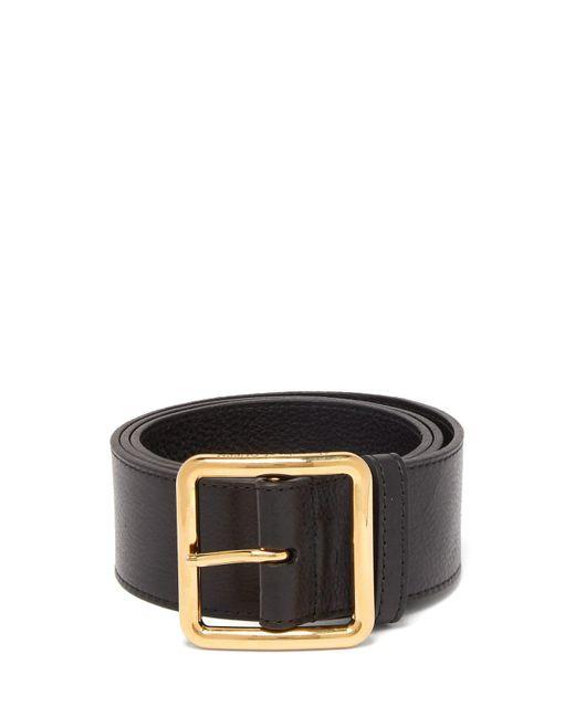 Alexander McQueen - Black Buckled Leather Corset Belt - Lyst