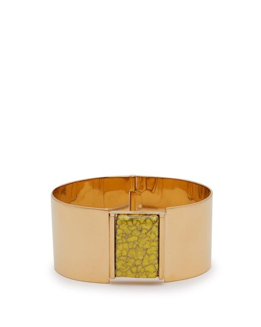 Isabel Marant - Yellow Marbled Stone Embellished Cuff - Lyst