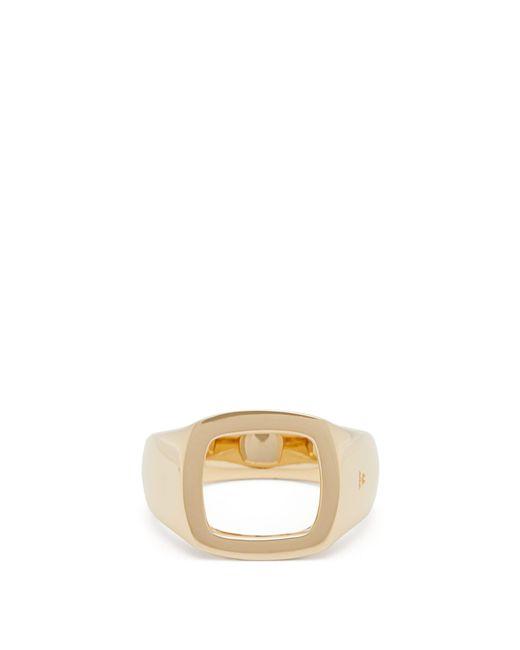 Tom Wood Metallic Cushion Open Ring for men