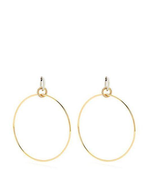 Spinelli Kilcollin - Metallic - Altaire Diamond, White & Yellow Gold Earrings - Womens - Gold - Lyst