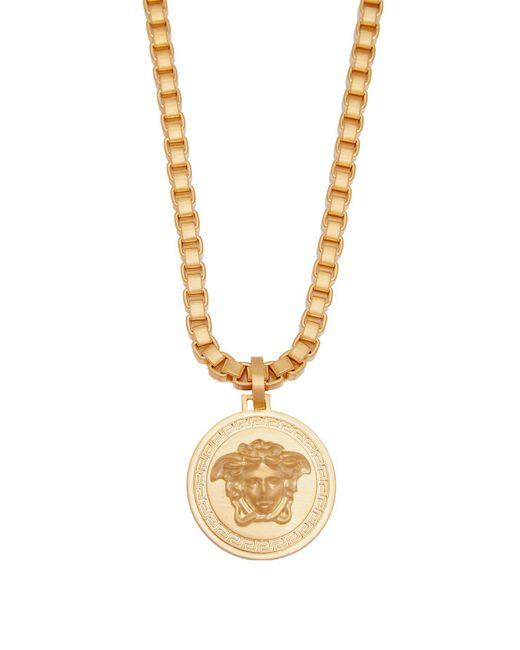 Versace - Metallic Medusa Pendant Necklace for Men - Lyst
