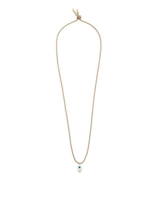 Luis Morais - Brown Hamsa Pendant Necklace for Men - Lyst