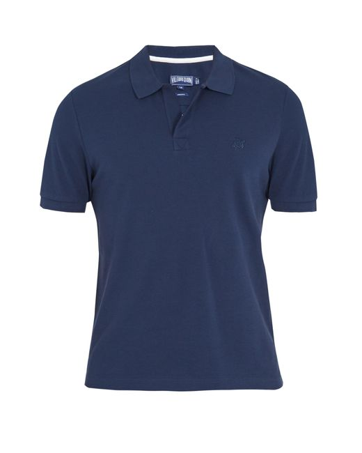 Vilebrequin | Blue Logo-embroidered Cotton-piqué Polo Shirt for Men | Lyst