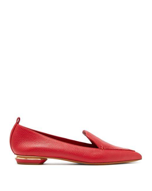 Nicholas Kirkwood - Red Beya Grained-leather Loafers - Lyst