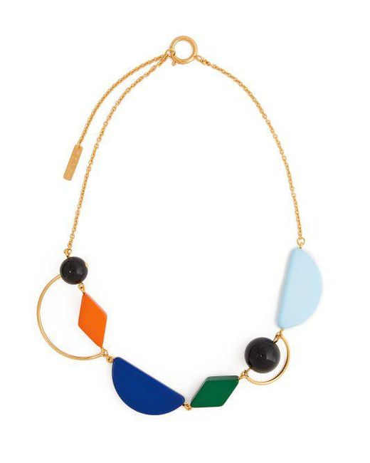Geometric resin and metal necklace Marni XQLCnv