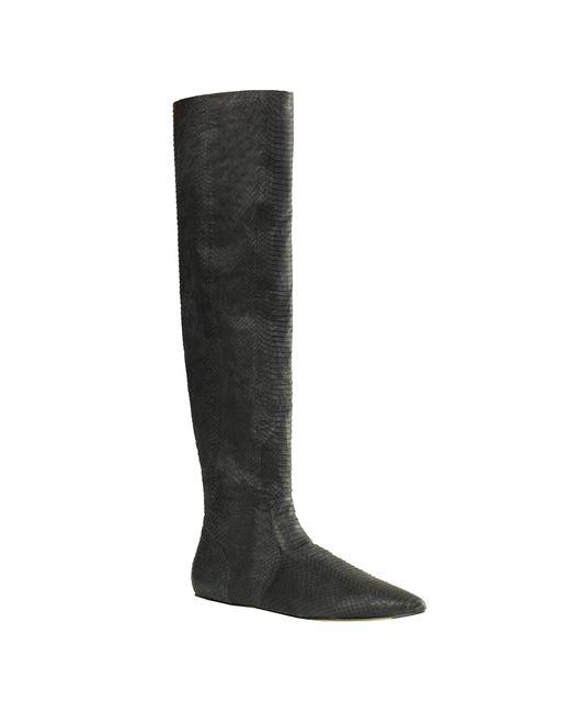 Leon Max | Black Lolasnk - Over The Knee Snakeskin Boots | Lyst