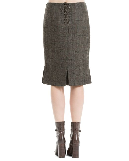 max high waisted plaid flannel skirt in multicolour
