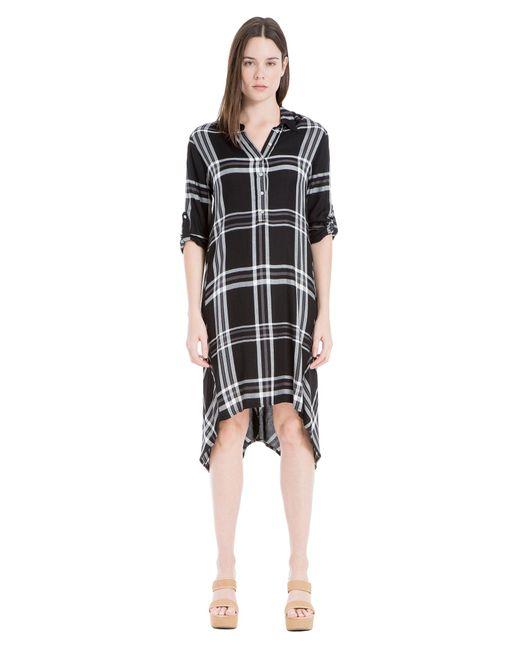 Leon Max | Black Plaid Shirt Dress | Lyst