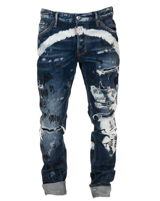 DSquared² Blue Cotton Jeans for men