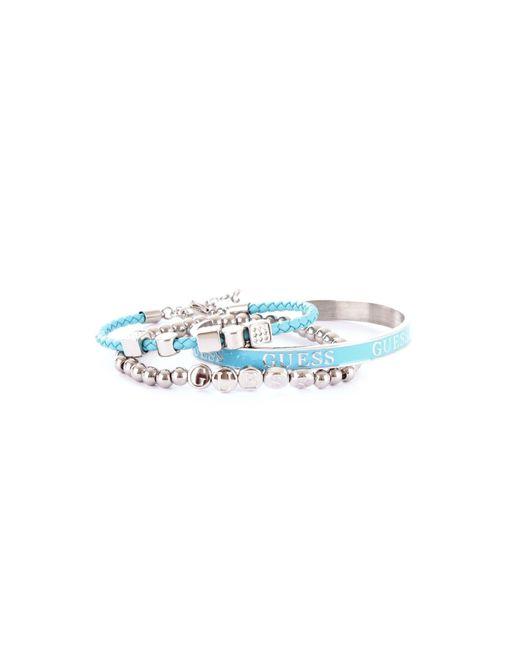 Guess - Metallic Silver Metal Bracelet - Lyst