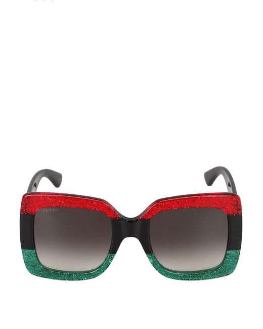 Gucci Black Acetate Sunglasses