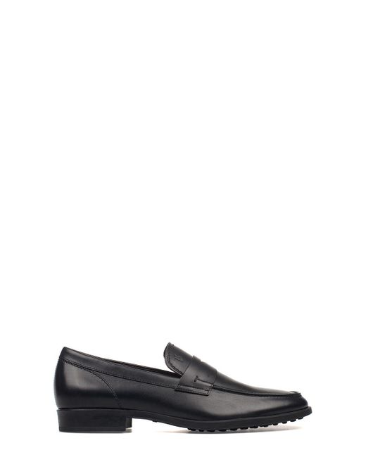 Tod's Black Leather Loafers for men
