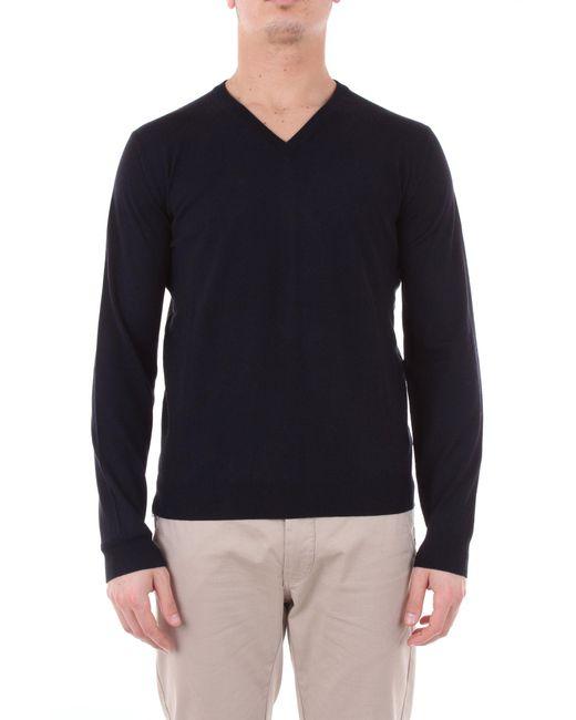 Zanone Blue Wool Sweater for men