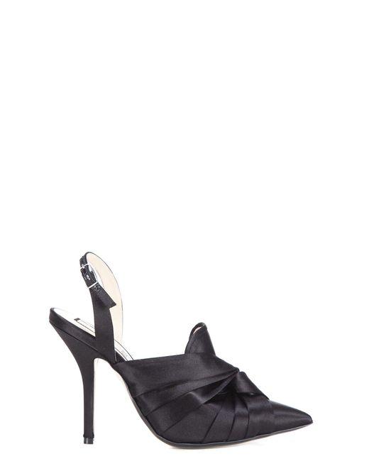 5c2c812ff06 N°21 Black Fabric Sandals in Black - Lyst